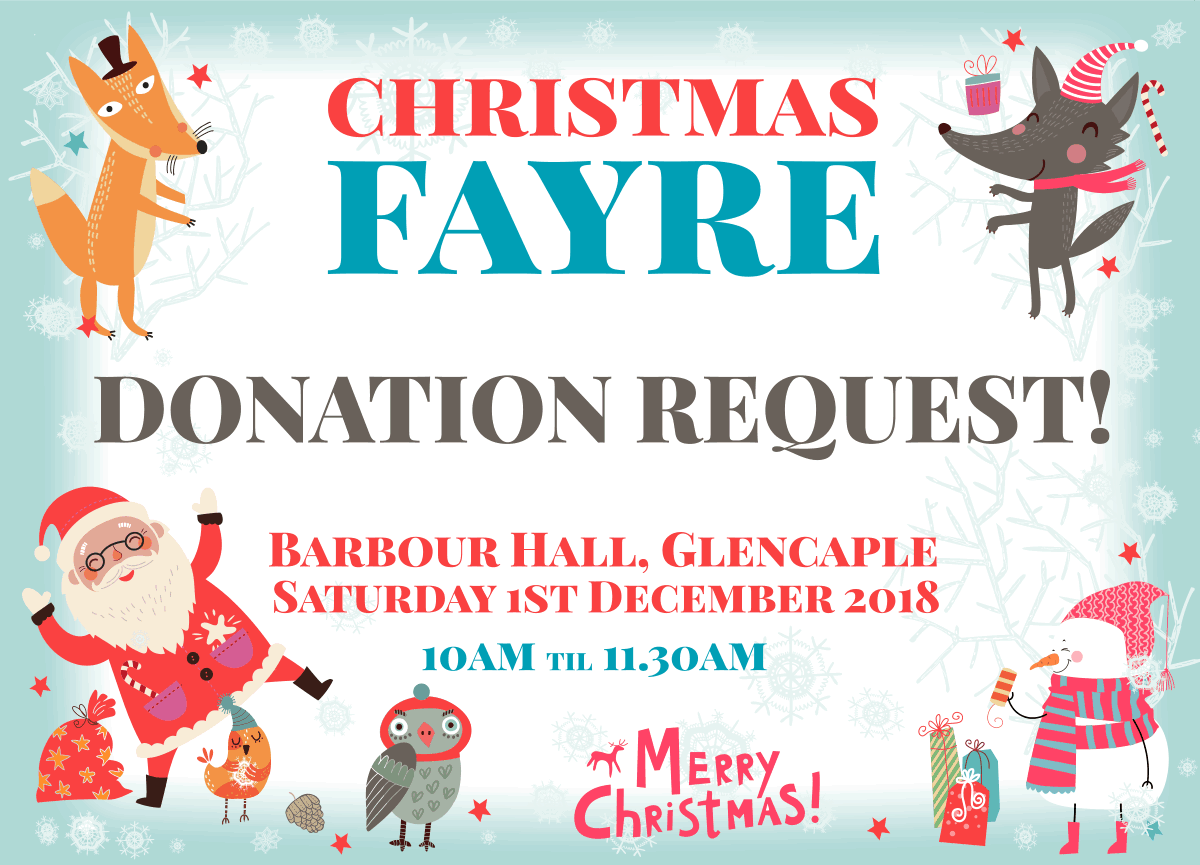 BARBOUR HALL COMMUNITY CHRISTMAS GET TOGETHER *DONATIONS